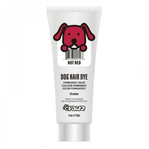 Dog hair dye Hot red
