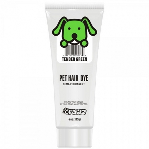 Dog hair dye Tender green
